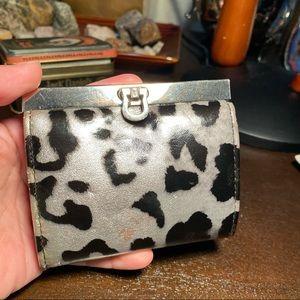 Vintage Faux Leather Leopard Print Cardholder